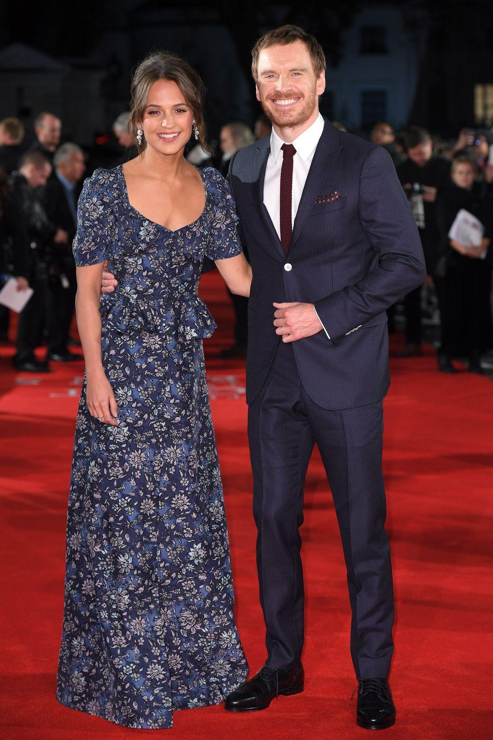 """<p><strong>How long they've been together: </strong>After falling in love on the set of their film <em>The Light Between Two Oceans</em> in 2014, the two A-list actors tied the knot in a secret ceremony in the summer of 2017. </p><p><strong>Why you forgot they're <strong>together</strong>: </strong>They're one of the most elusive couples in Hollywood, making very few public appearances together and remaining tight-lipped about their relationship. """"I think we've made a clear statement that we keep certain things just between us. It was very easy to unite, but that's quite personal,"""" Fassbender told<a href=""""https://ew.com/article/2016/09/02/michael-fassbender-alicia-vikander-light-between-oceans/"""" rel=""""nofollow noopener"""" target=""""_blank"""" data-ylk=""""slk:Entertainment Weekly"""" class=""""link rapid-noclick-resp""""> <em>Entertainment Weekly</em></a>. <strong><br></strong></p>"""
