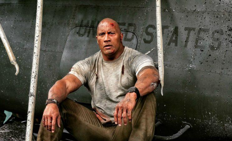 Dwayne 'The Rock' Johnson in next year's 'Rampage' (credit: New Line Cinema/Dwayne Johnson's Instagram)