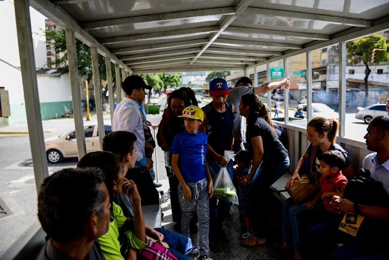 Most of Venezuela's public transport fleet has been paralyzed by hyperinflation: providers simply cannot make ends meet (AFP Photo/Federico PARRA)