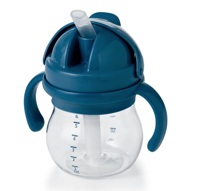 OXO Tot 6 Ounce Transitions Straw Cup with Removable Handles