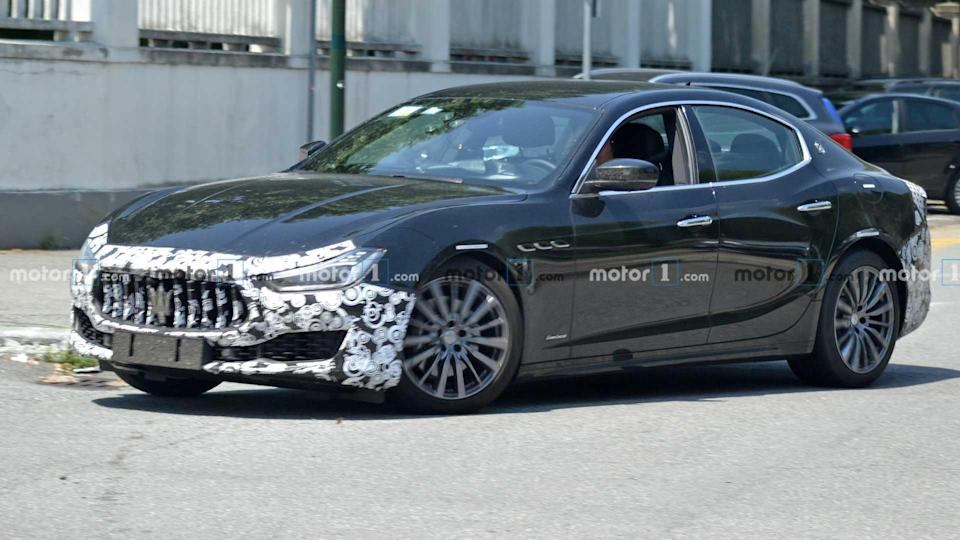 """<p>The <a href=""""https://www.motor1.com/maserati/ghibli/"""" rel=""""nofollow noopener"""" target=""""_blank"""" data-ylk=""""slk:Maserati Ghibli"""" class=""""link rapid-noclick-resp"""">Maserati Ghibli </a>is going under the knife for some slight styling changes. The relative lack of camouflage indicates that not much is going to be different when the covering comes off.</p> <h3><a href=""""https://www.motor1.com/news/433038/maserati-ghibli-facelift-spy-photos/"""" rel=""""nofollow noopener"""" target=""""_blank"""" data-ylk=""""slk:Maserati Ghibli Facelift Spied For The Last Time, Ghibli Hybrid Teased"""" class=""""link rapid-noclick-resp"""">Maserati Ghibli Facelift Spied For The Last Time, Ghibli Hybrid Teased</a></h3> <br><a href=""""https://www.motor1.com/news/428963/maserati-ghibli-hybrid-debuts-july-15/"""" rel=""""nofollow noopener"""" target=""""_blank"""" data-ylk=""""slk:Maserati Ghibli Hybrid New Teaser Announces July 15 Reveal"""" class=""""link rapid-noclick-resp"""">Maserati Ghibli Hybrid New Teaser Announces July 15 Reveal</a><br><a href=""""https://www.motor1.com/news/403441/maserati-ghibli-refresh-spied/"""" rel=""""nofollow noopener"""" target=""""_blank"""" data-ylk=""""slk:Maserati Ghibli Refresh Spied Not Hiding Much"""" class=""""link rapid-noclick-resp"""">Maserati Ghibli Refresh Spied Not Hiding Much</a><br>"""
