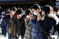 First day of the new year at the Meiji Shrine in Tokyo