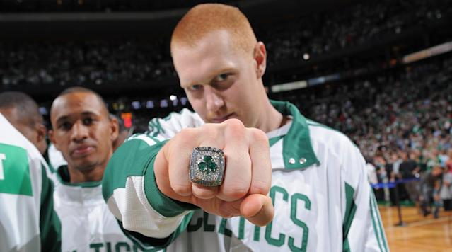 <p>It's been nine years since Brian Scalabrine became an NBA champion with the 2008 Boston Celtics. He may not have played a single minute but he did deliver the best post-game press conference performance.</p><p>We didn't forget. He's still an NBA champ and in 11 years, he'll be telling his kids that he probably started the series.</p><p><em>Watch his press conference answer to a reporter from Europe:</em></p><p>We're actually still trying to figure out how Scalabrine only retired with one NBA title in his career.</p>