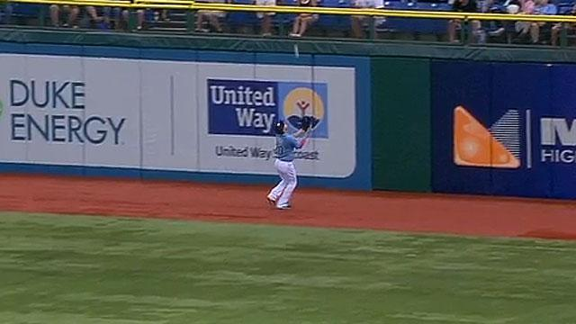 Matt Joyce channels Willie Mays