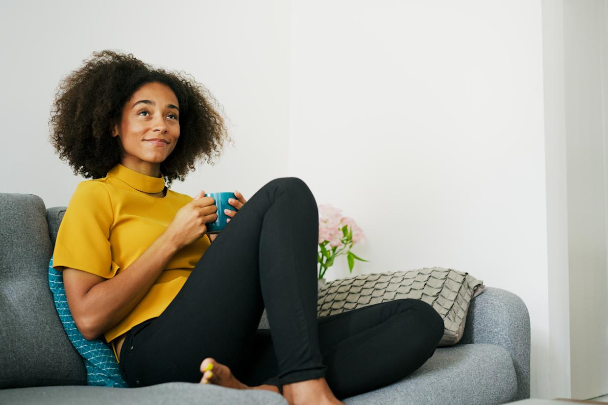 """""""The idea of the research behind affirmations and mantras actually shows that the more personalized they can be the more impactful, they are,"""" Shine co-founder Marah Lidey tells Yahoo Life. (Credit: Getty Images)"""