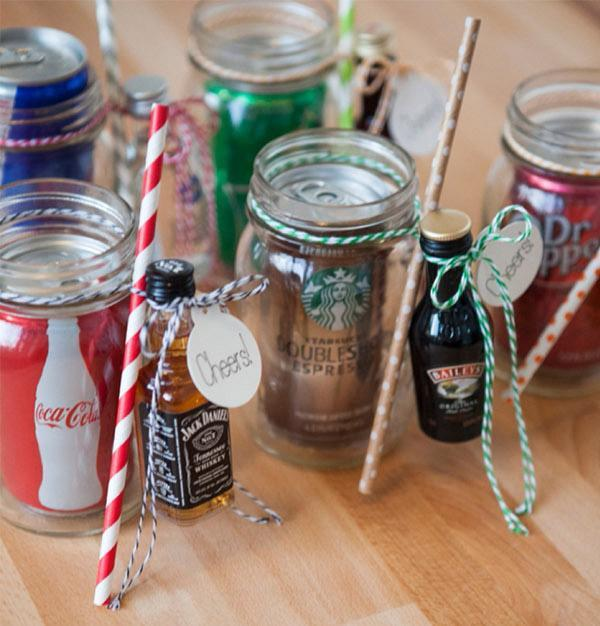 This is genius. What a good idea for wedding favours, too. Better start saving up all those mini booze bottles from plane journeys. [Photo: Pinterest]