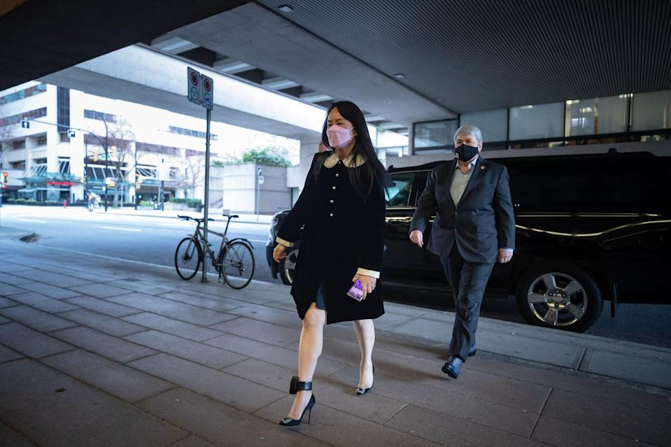Meng Wanzhou arrives at the Supreme Court in Vancouver in this April 1 file photo. Photo: Bloomberg