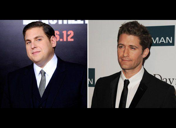 "Jonah Hill made it clear he was no fan of ""Glee"" star Matthew Morrison, when he appeared on ""Late Night with Jimmy Fallon"" in September 2011. Hill recalled a ""douchey Hollywood party"" where he tried to eavesdrop on a conversation between ""Gossip Girl"" actor Chace Crawford and Morrison, who had<a href=""http://www.dlisted.com/2011/09/23/fight-fight-jonah-hill-vs-matthew-morrison"" target=""_hplink""> made a joke at Hill's expense at an event a few weeks earlier</a>. He then overheard the two drop his name and start laughing. Hill took the opportunity on ""Late Night"" to call out the ""Glee"" actor: ""Matthew Morrison, you better bring your sh*t next time I see you...I'd like to see him sing his way out of this one,"" he said. Morrison responded by sending a goofy video to ""Late Night,"" where he finished his joke about Hill and then accepted the actor's challenge, saying, ""Nobody messes with someone from musical theater!"" This extremely dorky feud <a href=""http://www.mtv.com/news/articles/1673980/jonah-hill-matthew-morrison-sitter.jhtml"" target=""_hplink"">eventually just blew over</a>."