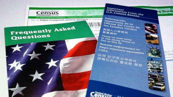 PHOTO:U.S. Census pamphlets and paperwork are pictured in this photo illustration New York, July 15, 2019. (Carlo Allegri/Reuters)