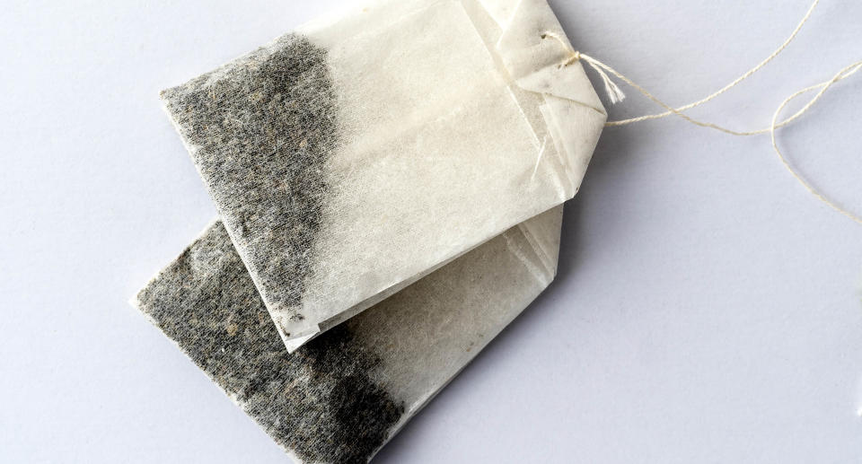 Two tea bags on a white background. Source: Getty Images