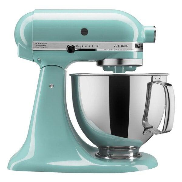 """<strong><h2><a href=""""https://www.wayfair.com/kitchen-tabletop/pdp/kitchenaid-artisan-series-10-speed-5-quart-tilt-head-stand-mixer-ksm150-includes-dough-hook-other-accessories-w002904293.html?piid=1117700874"""" rel=""""nofollow noopener"""" target=""""_blank"""" data-ylk=""""slk:KitchenAid"""" class=""""link rapid-noclick-resp"""">KitchenAid</a></h2></strong><br><strong>Dates: Now - September 7</strong><br>During quarantine, you've probably spent more time in the kitchen than usual. Why not optimize time and space with this three in one mixer - it includes a dough hook, flat head beater, and whisk. It's available for up to 24% off at tons of your favorite places to shop including <a href=""""https://www.wayfair.com/kitchen-tabletop/pdp/kitchenaid-artisan-series-10-speed-5-quart-tilt-head-stand-mixer-ksm150-includes-dough-hook-other-accessories-w002904293.html?piid=1117700874"""" rel=""""nofollow noopener"""" target=""""_blank"""" data-ylk=""""slk:Wayfair"""" class=""""link rapid-noclick-resp""""><strong>Wayfair</strong></a>, <strong><a href=""""https://www.amazon.com/KitchenAid-KSM150PSIC-Artisan-Pouring-Shield/dp/B00008GS9X/ref=asc_df_B00008GS9X/?tag=hyprod-20&linkCode=df0&hvadid=198060165080&hvpos=&hvnetw=g&hvrand=12808876512755756948&hvpone=&hvptwo=&hvqmt=&hvdev=c&hvdvcmdl=&hvlocint=&hvlocphy=9004347&hvtargid=pla-373357139175&psc=1"""" rel=""""nofollow noopener"""" target=""""_blank"""" data-ylk=""""slk:Amazon"""" class=""""link rapid-noclick-resp"""">Amazon</a></strong>, and <strong><a href=""""https://www.crateandbarrel.com/kitchenaid-artisan-shaded-palm-5-quart-tilt-head-stand-mixer/s171057"""" rel=""""nofollow noopener"""" target=""""_blank"""" data-ylk=""""slk:Crate & Barrel"""" class=""""link rapid-noclick-resp"""">Crate & Barrel</a></strong>.<br><br><strong>KitchenAid</strong> KitchenAid Artisan Series 10 Speed Stand Mixer, $, available at <a href=""""https://go.skimresources.com/?id=30283X879131&url=https%3A%2F%2Fwww.wayfair.com%2Fkitchen-tabletop%2Fpdp%2Fkitchenaid-artisan-series-10-speed-5-quart-tilt-head-stand-mixer-ksm150-includes-dough-hook-other-accessories-w0029042"""