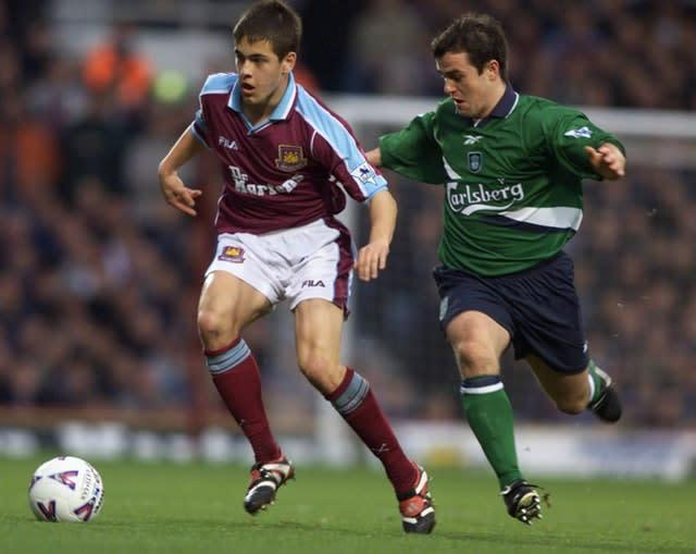 Joe Cole, left, started his playing career at West Ham (Tom Hevezi/PA)