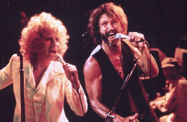 Barbra Streisand and Kris Kristofferson in A Star is Born, 1976. (Photo: Everett Collection)