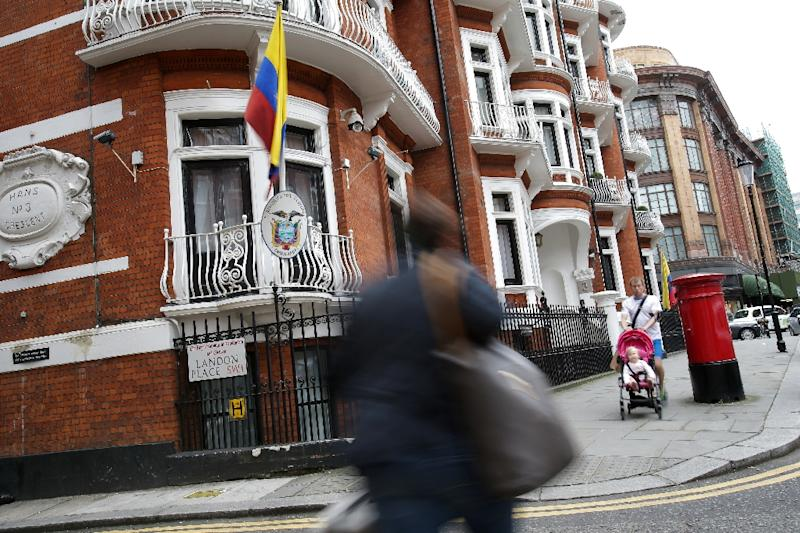 The Ecuadorian embassy in central London where WikiLeaks founder Julian Assange has lived for four years (AFP Photo/Daniel Leal-Olivas)