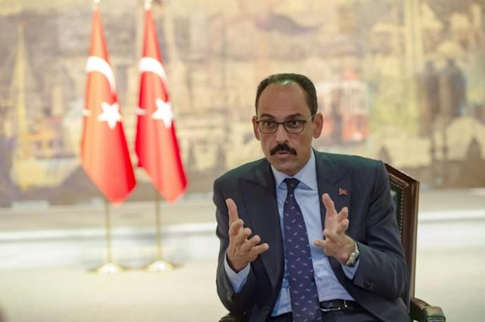 Kalin blamed the Kurdish forces for breaches of the ceasefire (AFP Photo/Yasin AKGUL)