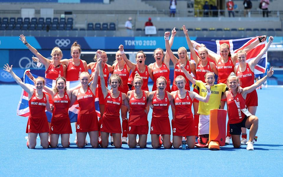 Team triumph for Great Britain after their 4-3 win over India in Tokyo - GETTY IMAGES