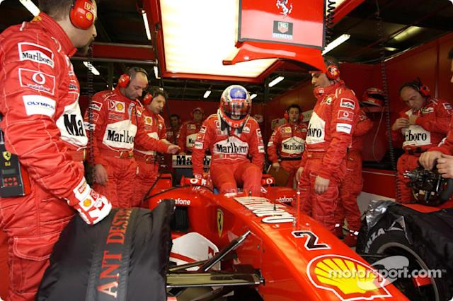 "Rubens Barrichello se prepara <span class=""copyright"">Ferrari Media Center</span>"