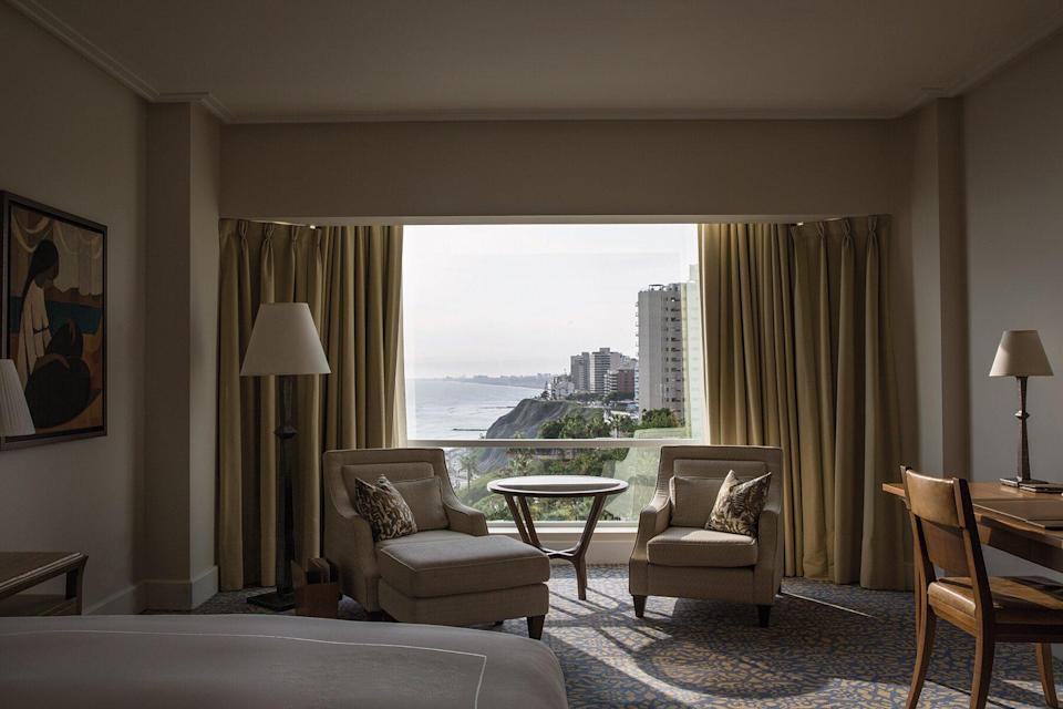 View from a bedroom at Miraflores Park, a Belmond Hotel