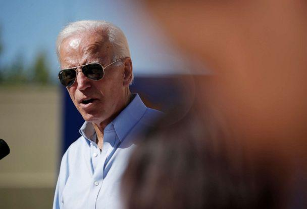 PHOTO: Democratic presidential candidate and former Vice President Joe Biden speaks at a campaign event, Sept. 27, 2019, in Las Vegas. (John Locher/AP)
