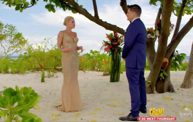 The 37-year-old blonde bombshell stunned in a beautiful Pallas Couture gown, that showed off her incredible figure perfectly. Source: Channel Ten