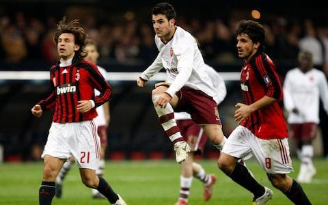 "At a club where the last 12 years have included a Champions League win, an eight-point deduction for match-fixing and a sale to Chinese investors by a former Italian Prime Minister, AC Milan's unexpected resurgence over the last few months has been typically eccentric. The team's San Siro stadium is known as La Scala del Calcio - the football equivalent of Milan's famous 18th-century opera house. A sudden plot twist is never far away. The latest episode of AC Milan's 119-year-old drama comes after a decade of sharp decline. Only Real Madrid have been European champions more times than Milan, but the Italians are without a Serie A title since 2011 and have finished eighth, tenth, seventh and sixth in the last four seasons. Of late, we may have been witnessing the green shoots of recovery. Gennaro ""Rino"" Gattuso is playing the role of unlikely saviour, and Arsenal, who Milan face in Thursday night's Europa League last-16 tie, could be the latest fall guy. Humble beginnings A reminder of Gattuso's CV. A cult hero in his playing days, Gattuso was known as Ringhio, ""the Growl"". The perma-bearded and perma-angry midfielder won the World Cup with Italy in 2006 and two Champions League titles with Milan. He once squared up mid-match to Tottenham assistant manager Joe Jordan - a former striker so fearsome that he dislocated the jaw of an opposition goalkeeper in an aerial challenge. Gattuso was a raging midfielder in his playing days Credit: Reuters Eyebrows were raised when Gattuso was appointed Milan's head coach at the end of November despite a flimsy managerial CV. But he has turned the team around, and they are currently enjoying a run of 13 matches unbeaten and six straight clean sheets. Arsenal, by contrast, have lost their last four games and arrive in Italy looking to salvage their crumbling season. Had this match been played in late November when Gattuso was appointed, Arsenal would have been heavy favourites. Then under Vincenzo Montella, Milan were languishing 12 points short of the Champions League places after losing six out of 14 Serie A matches. This was despite a summer outlay of £175m on 11 new players, funded by the club's Chinese owner Li Yonghong. More on him later. It would be easy to characterise Milan's revival under Gattuso as shock therapy. You know the drill - get a former hardman player in to give the fancy Dan stars a rollicking and hope they might be scared into performing. Gattuso's managerial career to date runs contrary to this reading. He has not assumed his fearsome reputation alone would motivate players. He made sure he cut his teeth at relative footballing outposts - Sion, Palermo, OFI Crete and Pisa - before returning to Milan with the Primavera (youth) team last year and ultimately accepting the top job. Despite mixed results in his previous roles, Gattuso remained convinced that he could succeed where a number of former Milan team-mates, including Clarence Seedorf and Filippo Inzaghi, had failed. Gennaro ""Rino"" Gattuso 