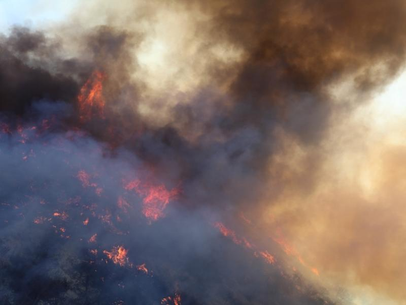 Brush Fire Flames A home under construction caught fire Monday and Newport Beach Firefighters raced to the scene.