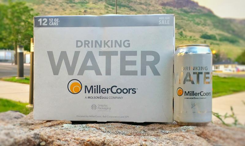 MillerCoors said it is sending 50,000 cans of drinking water to parts of Texas in response to Hurricane Harvey. (MillerCoors)