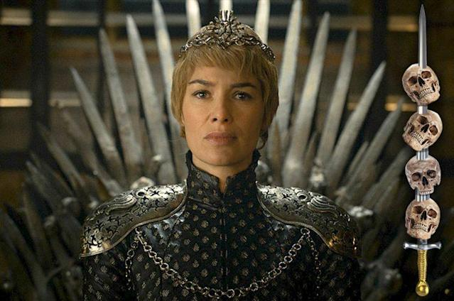 Wait, what's Cersei doing on the Iron Throne? Oh, right, I remember now.(Photo: HBO)