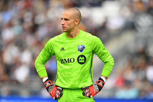 Montreal Impact goalkeeper Evan Bush is optimistic that MLS and its players' union can agree to a new collective bargaining agreement and avoid a work stoppage. (Kyle Ross/Getty)