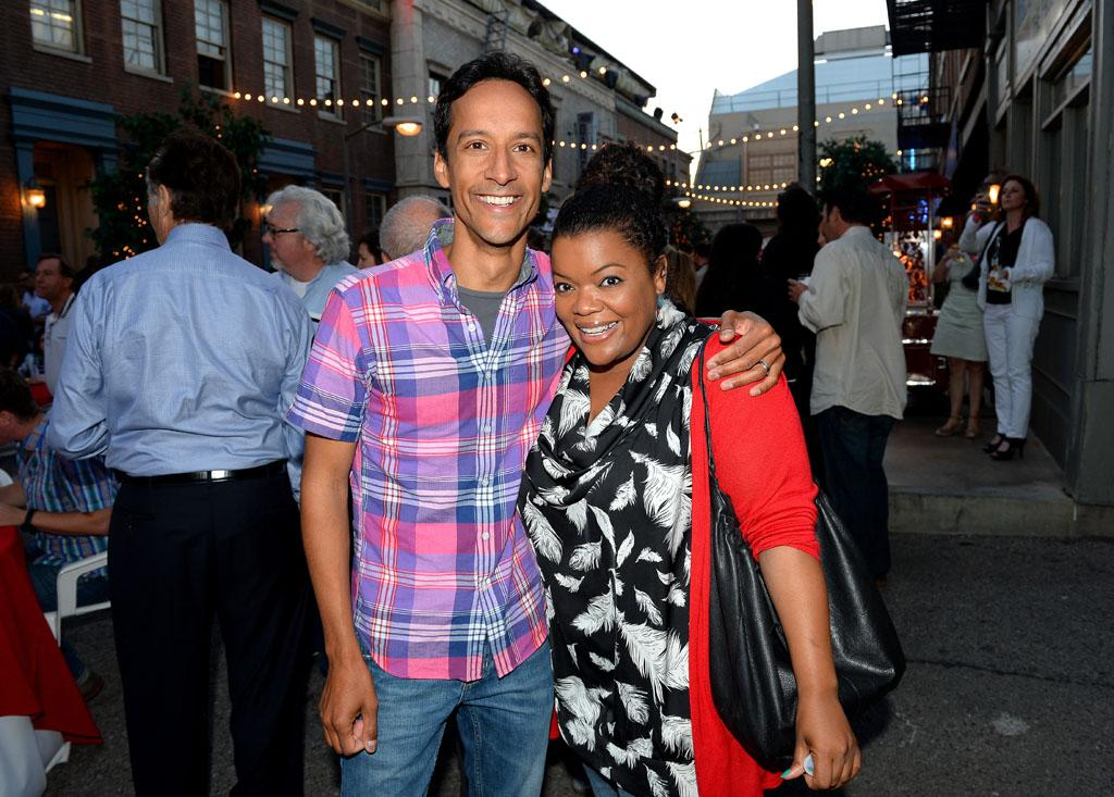 "Danny Pudi and Yvette Nicole Brown attend the after party for TV Land's ""Hot in Cleveland"" Live Show on June 19, 2013 in Studio City, California."