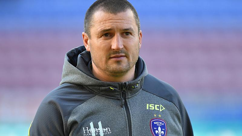 Chris Chester, pictured here before the Super League clash between Wigan Warriors and Wakefield Trinity in 2019.