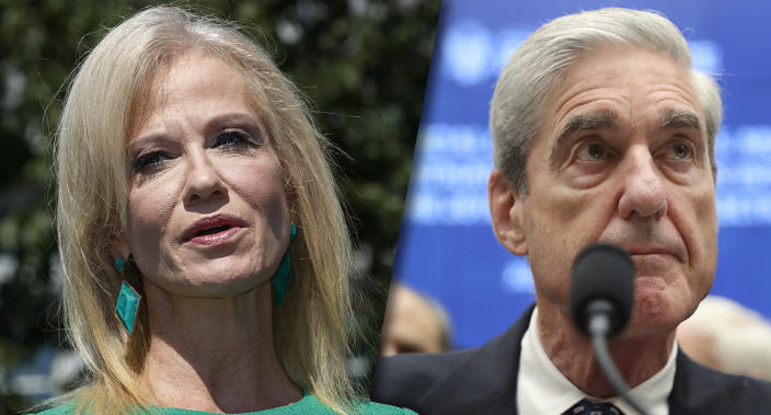 Kellyanne Conway and former special counsel Robert Mueller (Photos: Jacquelyn Martin/AP, Andrew Harnik/AP)