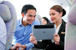 HP ElitePad Takes Flight With Emirates Airlines