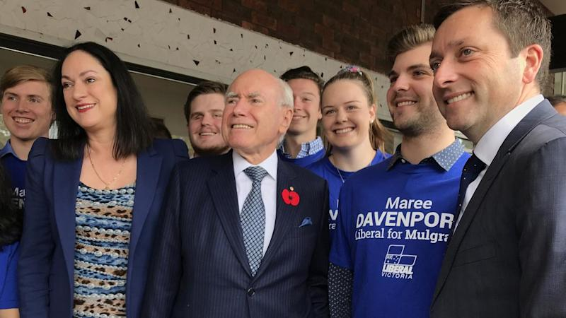 Matthew Guy has campaigned focusing on the bread-and-butter concerns of Victoria, John Howard says