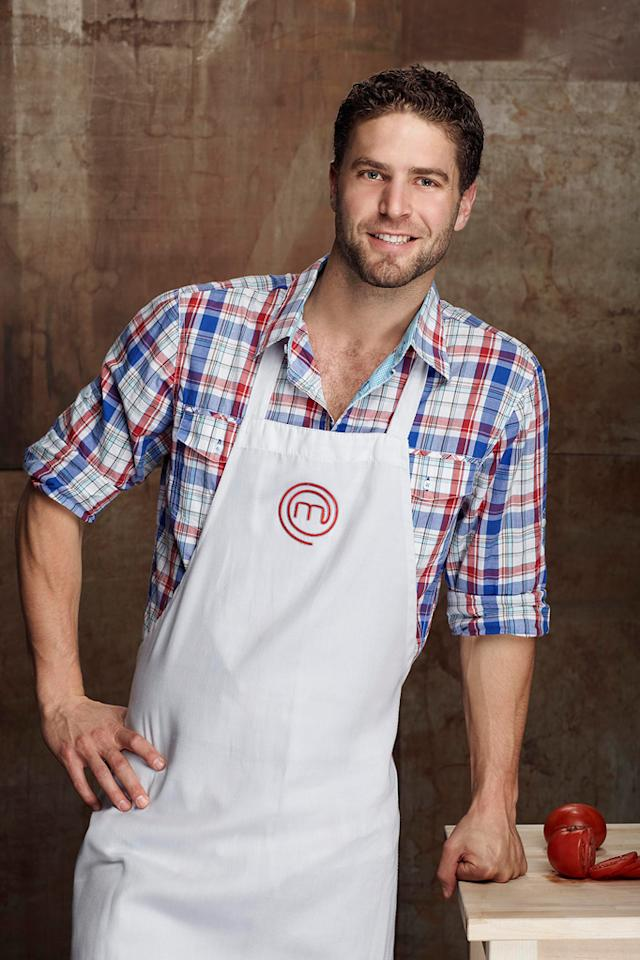 "Lee Knaz, a bartender from Venice, CA, is one of the top 14 finalists on ""MasterChef."""