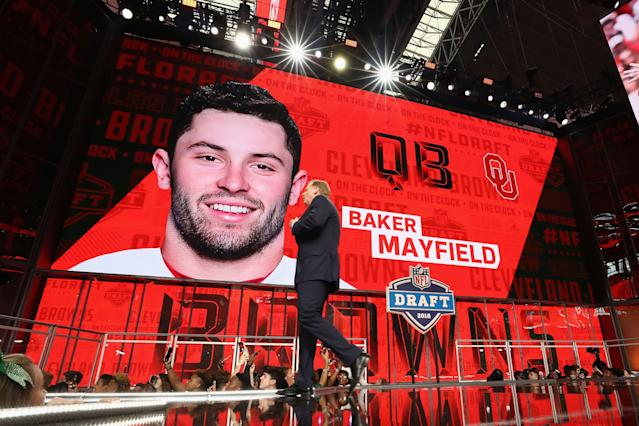 The Browns had pegged Baker Mayfield as their No. 1 pick long before draft night of 2018. (Getty Images)