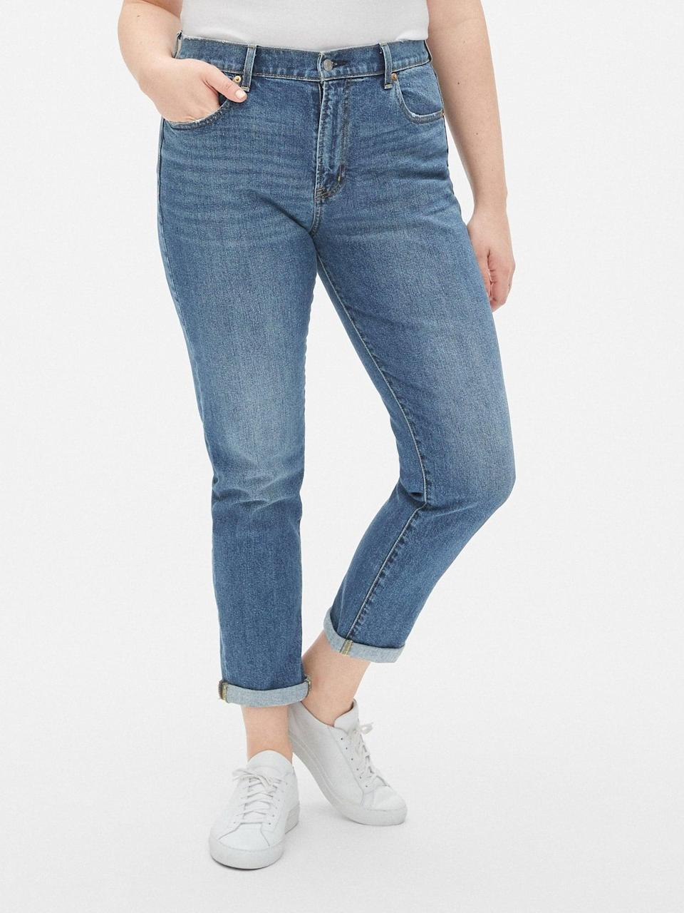 <p>These <span>Gap High Rise Best Girlfriend Jeans</span> ($56, originally $70) are the more flattering version of a boyfriend jean, and we live in them during the Summer.</p>