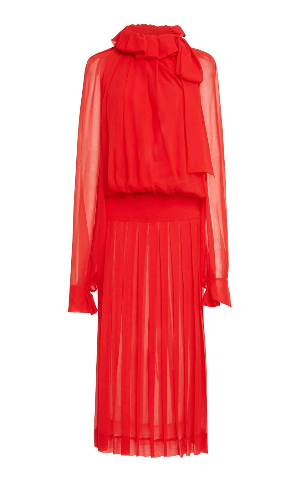 """<p><strong>Victoria Beckham</strong></p><p>modaoperandi.com</p><p><strong>$1650.00</strong></p><p><a href=""""https://go.redirectingat.com?id=74968X1596630&url=https%3A%2F%2Fwww.modaoperandi.com%2Fwomen%2Fp%2Fvictoria-beckham%2Fdraped-gathered-silk-midi-dress%2F490283&sref=https%3A%2F%2Fwww.harpersbazaar.com%2Fwedding%2Fbridal-fashion%2Fg36750122%2Fbest-mother-of-the-groom-dresses%2F"""" rel=""""nofollow noopener"""" target=""""_blank"""" data-ylk=""""slk:SHOP NOW"""" class=""""link rapid-noclick-resp"""">SHOP NOW</a></p><p>Victorian vibes are festive and feminine without feeling too fussy. Punch it up with metallic accessories and modern extras to avoid the ensemble becoming too costume or matchy-matchy. </p>"""