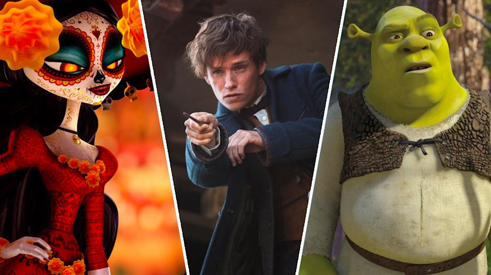 The Book of Life, Fantastic Beasts and Where To Find Them, Shrek 2.