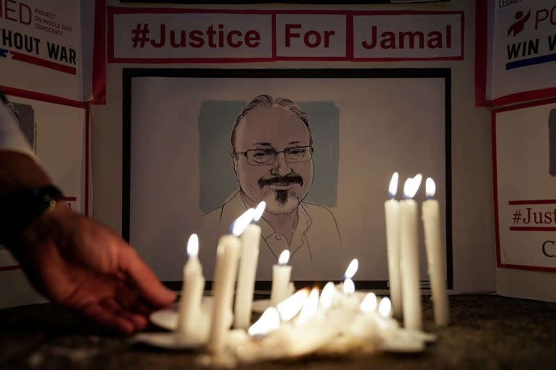 FILE PHOTO: A Vigil is held at Saudi Embassy for Journalist Jamal Khashoggi