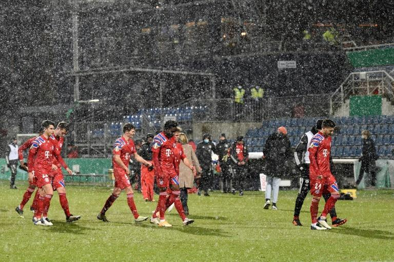 Bayern Munich's stars trudge off after their cup defeat at Holstein Kiel