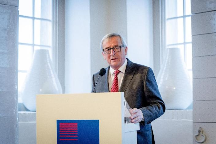European Commission President Jean-Claude Juncker delivers a speech at the Scheepvaartmuseum during a visit to Amsterdam, on January 7, 2016 (AFP Photo/Robin Van Lonkhuijsen)