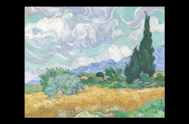 """""""A Wheatfield with Cypresses"""" by Vincent van Gogh, $57 million."""