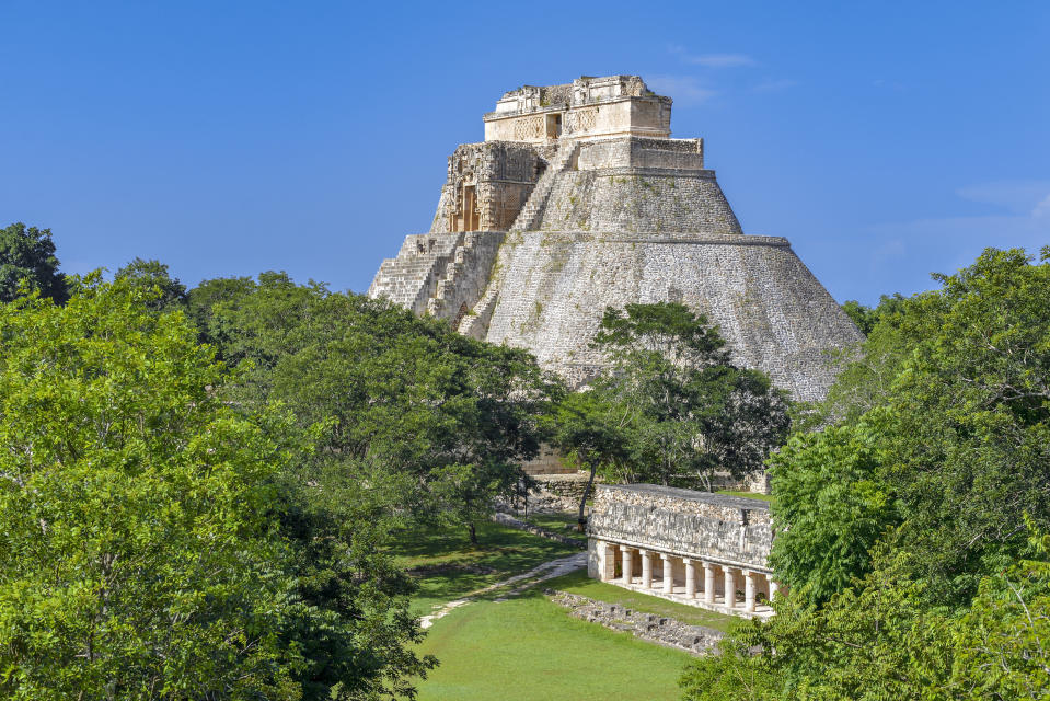 This ancient city is considered one of the most important archaeological sites of the Maya culture, and features steep pyramids which you can climb. [Photo: Getty]