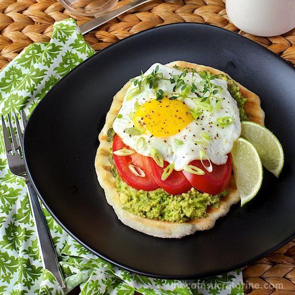 """<p>This makes avocado toast look so basic.</p><p>Get the recipe at <a href=""""http://thecafesucrefarine.com/2013/06/avocado-breakfast-flatbreads/"""" rel=""""nofollow noopener"""" target=""""_blank"""" data-ylk=""""slk:The Cafe Sucre Farine"""" class=""""link rapid-noclick-resp"""">The Cafe Sucre Farine</a>.<br></p>"""