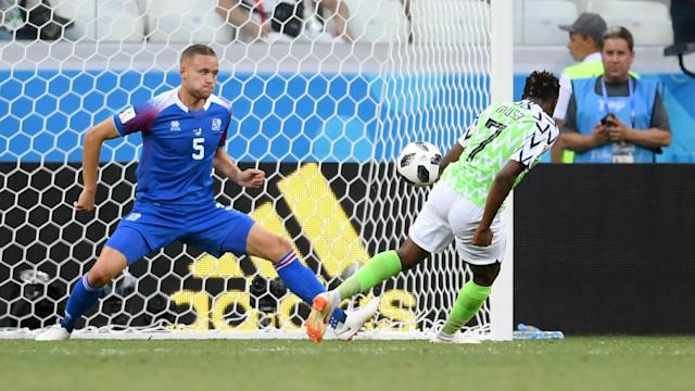The Super Eagles turned out in style at the Volgograd Arena after a shoddy display against Croatia to the delight of the ex- goalkeeper