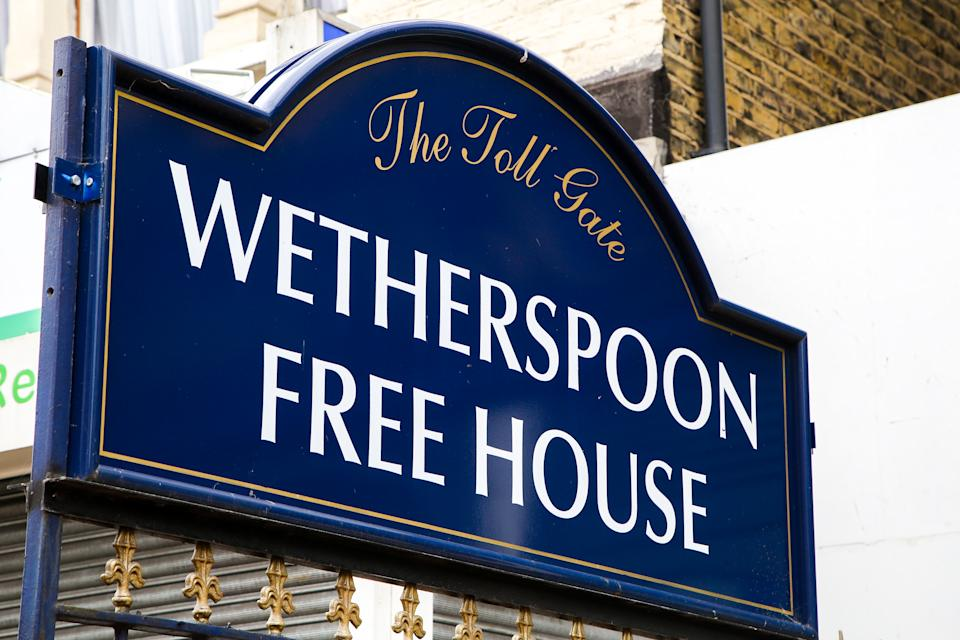 'The Toll Gate' a Weatherspoon Free House sign in north London. Pubs have been closed in the UK since March following the outbreak of COVID-19 and predicted to reopen on 22 June. (Photo by Dinendra Haria / SOPA Images/Sipa USA)