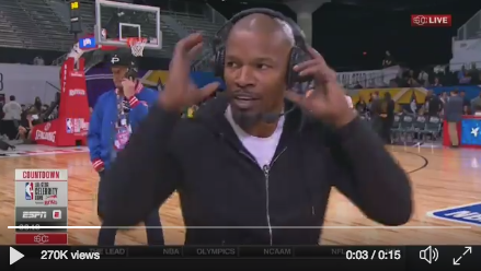 The actor ripped off his headset and stormed off camera. Photo: ESPN