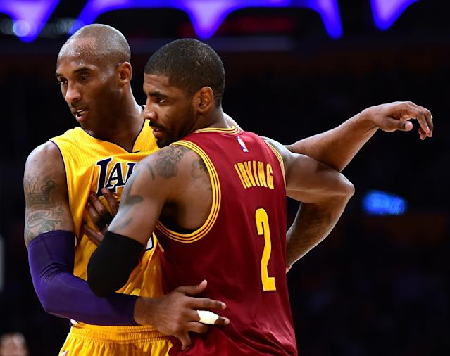 Kyrie Irving and Kobe Bryant shared a friendship. (Photo by Harry How/Getty Images)