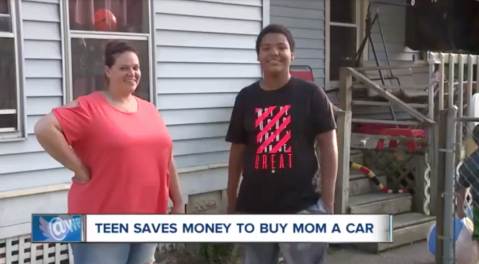 A 15-year-old in Ohio purchased his mother a car using the money he earned at his summer job. (Photo: News5Cleveland)